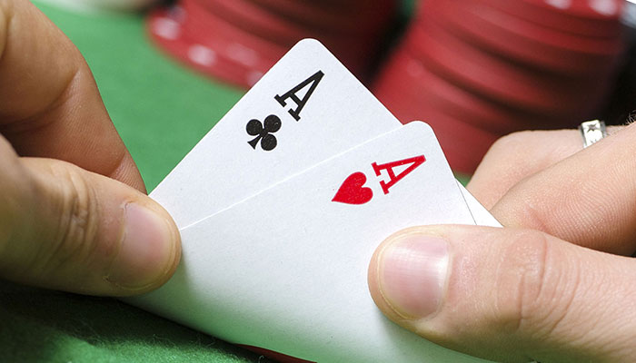 Zwei Paare Assen in Poker - Aces Up